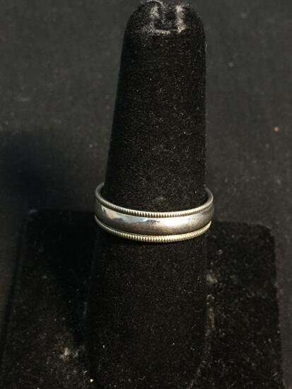 FC Designer Milgrain Edged High Polished 5mm Wide Comfort Fit Sterling Silver Band