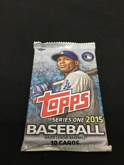 Factory Sealed Topps Series One 2015 Baseball MLB Card Pack