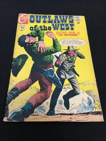 Vintage Charlton Comics OUTLAWS OF THE WEST No.67 Nov Comic Book