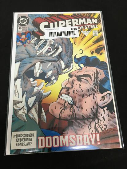 DC Comics SUPERMAN THE MAN OF STEEL 19 Jan 93 1 Comic Book DOOMSDAY!