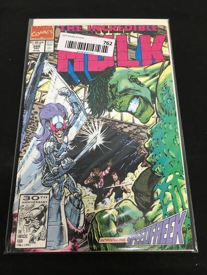 Marvel Comics THE INCREDIBLE HULK INTRODUCING SPEEDFREEK Dec 388 Comic Book