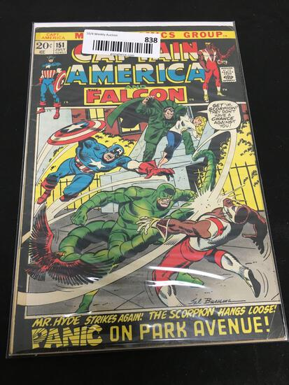 Marvel Comics Group CAPTAIN AMERICA AND THE FALCON PANIC ON PARK AVENUE! Comic Book 151 July