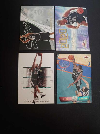 Tim Duncan lot of 4