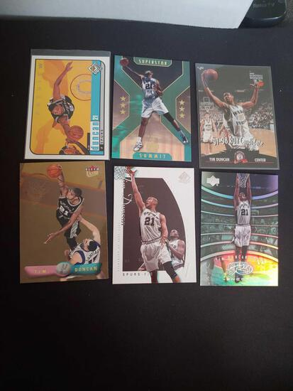 Tim Duncan lot of 6