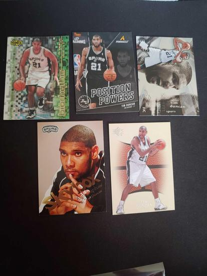 Tim Duncan lot of 5