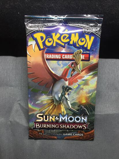 Factory Sealed Pokemon 10 Card Booster Pack of Sun & Moon BURNING SHADOWS