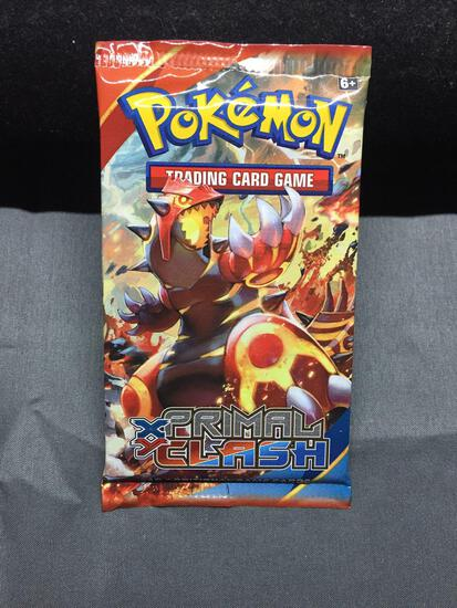 Factory Sealed Pokemon 10 Card Booster Pack - XY Primal Clash