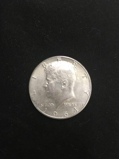 1964-D United States Kennedy Half Dollar - 90% Silver Coin - 0.361 ASW
