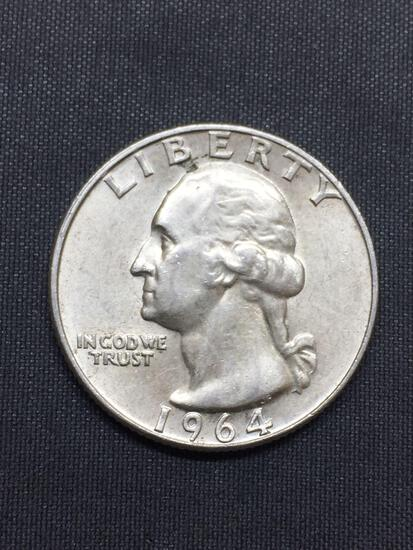 1964-D United States Washington Quarter - 90% Silver Coin