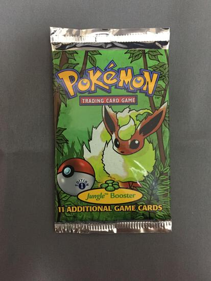 Factory Sealed Pokemon Jungle 1st Edition 11 Card Booster Pack - 20.69 Grams
