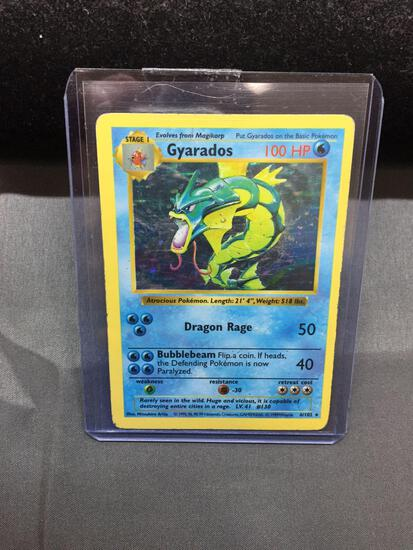 Pokemon Base Set SHADOWLESS Holo Rare Pokemon Card - Gyarados 6/102