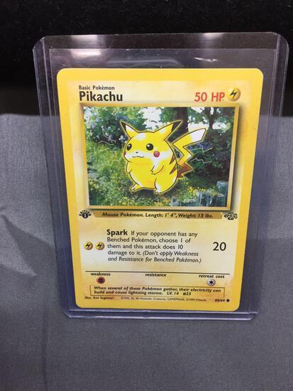 1st Edition Jungle Pikachu Red Cheeks Pokemon Card STARTER 60/64