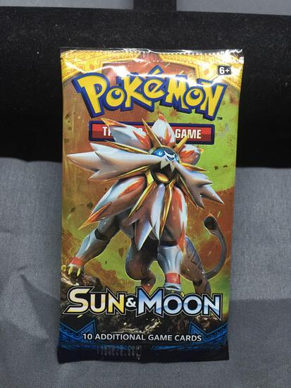 Factory Sealed Pokemon 10 Card Booster Pack of Sun & Moon