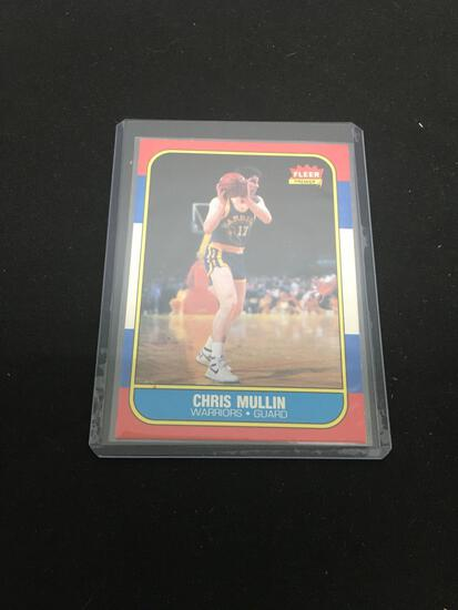 1986-87 Fleer #77 CHRIS MULLIN Warriors ROOKIE Basketball Card