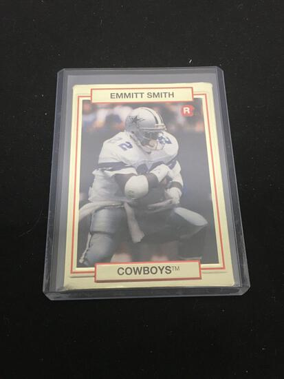 1990 Action Packed #34 EMMITT SMITH Cowboys ROOKIE Football Card