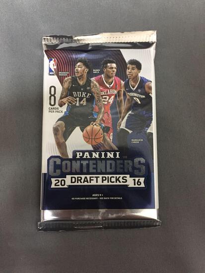 Sealed 2016-17 Panini Contenders Draft Picks Basketball 8 Card Pack from Hobby Box