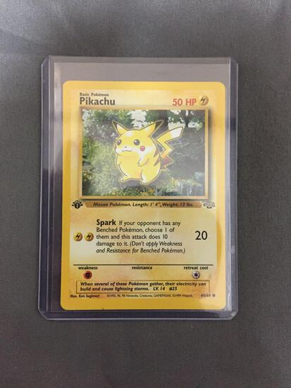 Jungle 1st Edition Pokemon Trading Card - PIKACHU Starter Iconic