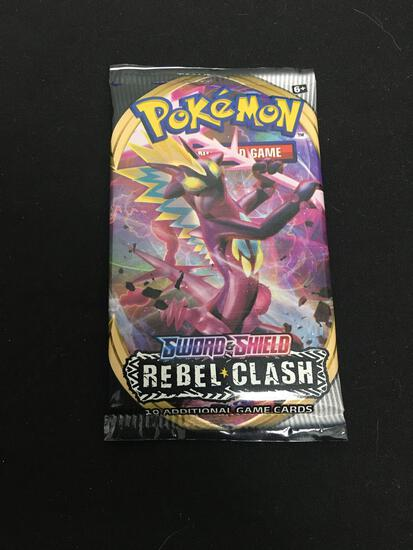 Factory Sealed 10 Card Booster Pack of Pokemon Sword & Shield Rebel Clash