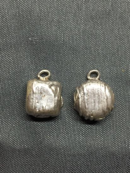 Lot of Two Sterling Silver Cake Motif Charms