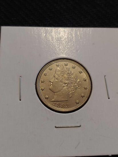 1883 V nickel great shape
