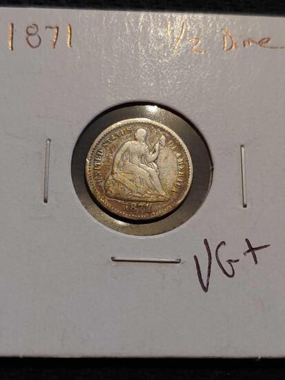 1871 1/2 dime