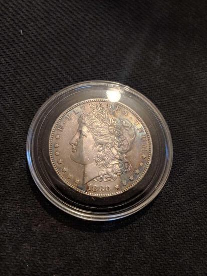 1880 s Morgan silver dollar great shape