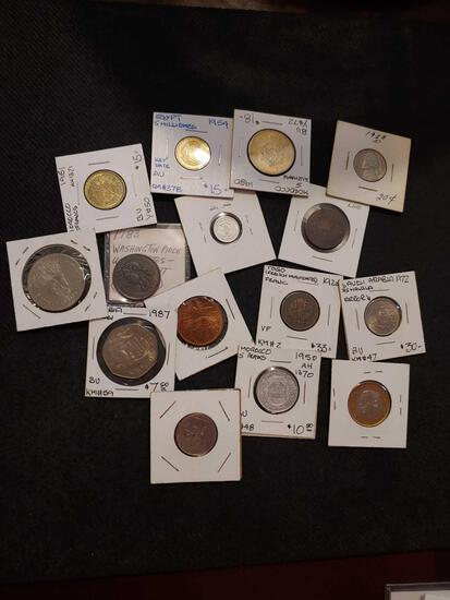 Mixed lot of 15 coins