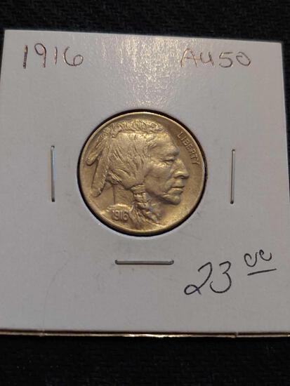 1916 Au50 Buffalo Nickel