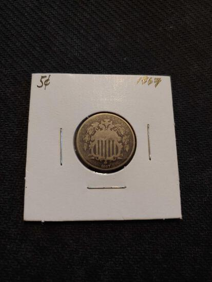 1867 nickel