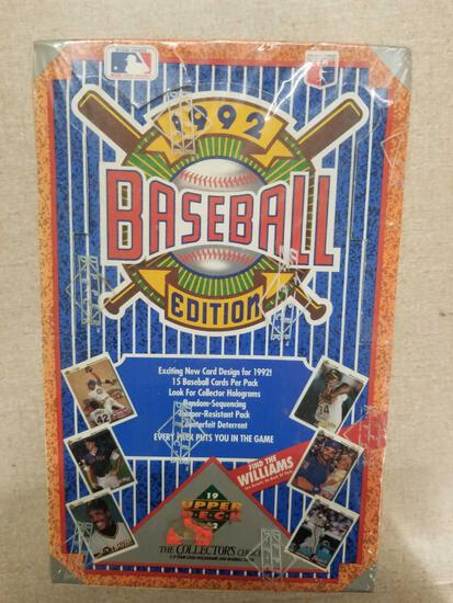 Sealed 1992 Upper Deck Baseball 36 Pack Box from Store Closeout