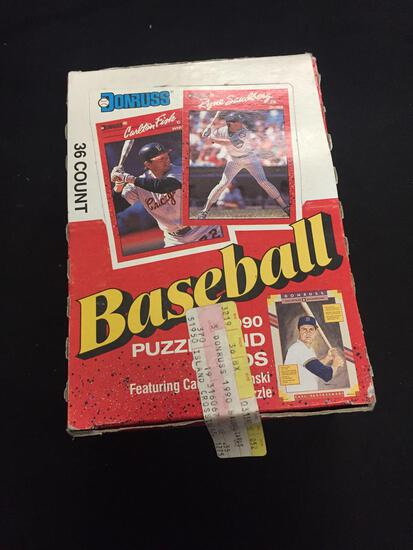 Donruss Baseball Factory Sealed Packs Puzzle and Cards 36 Count