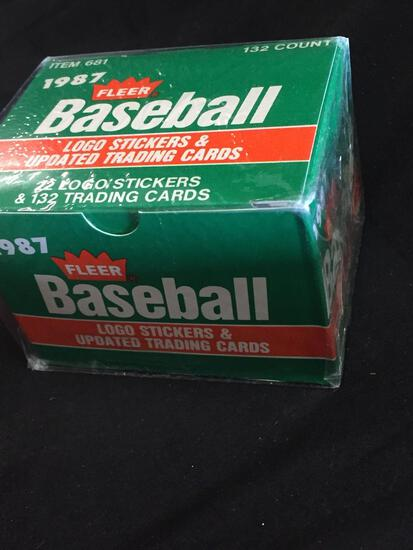Factory Sealed Box 1987 Fleer Baseball Logo Stickers & Updated Trading Cards