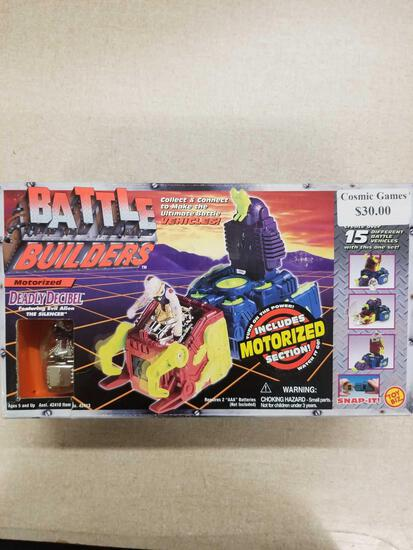 Battle Builders Motorized DEADLY DECIBEL Toy Biz Action Figure in Original Box
