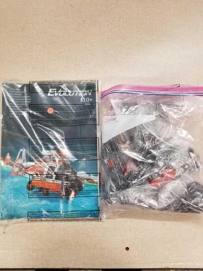 EVOLUTION Model Helicopter, No Box, Pieces and Instructions Only