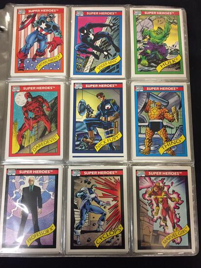 Large Binder of Non Sports Trading Cards, Seems to be Mainly Super Heroes