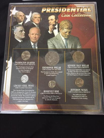 PRESIDENTIAL COIN COLLECTION SSCA Framed