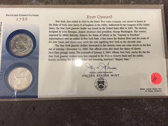 Ratified Constitution 1788 Ever Upward Philidelphia and Denver Mint Facility Quarters