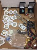 Huge Lot of Estate Jewelry and Silver Coins Including Sterling Silver Jewelry - WOW