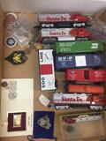 Mixed Lot of Vintage Coins, Tokens, Medals and Model Trains from Estate - Wow!