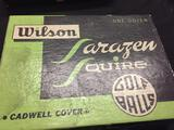 Vintage One Sleeve (3 Balls) Wilson Saragen Squire Golf Balls Cadwell Cover Sealed in original