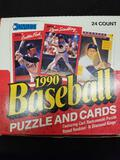 Donruss 1990 Baseball Puzzle and Cards Box Factory Sealed Packs 24 Count