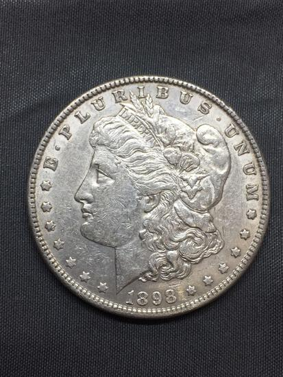 1898-P United States Morgan Silver Dollar - 90% Silver Coin