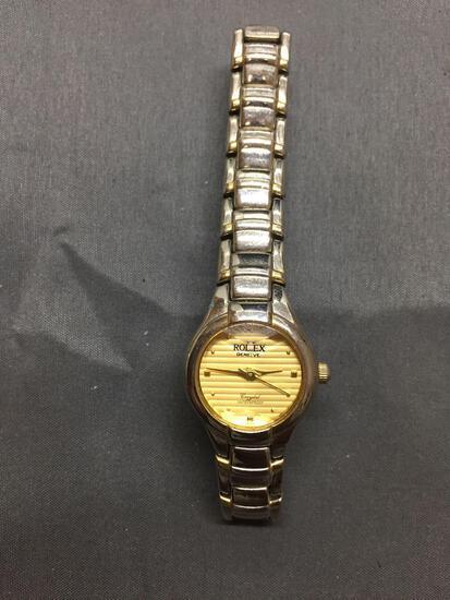 Rolex Geneve Crystal Vintage Ladies Style Watch