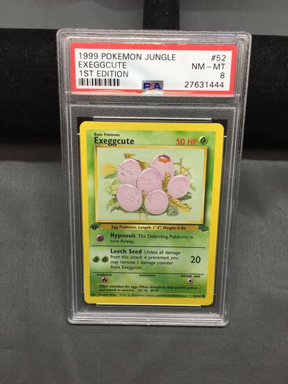 PSA Graded 1999 Pokemon Jungle 1st Edition EXEGGCUTE Trading Card - NM-MT 8
