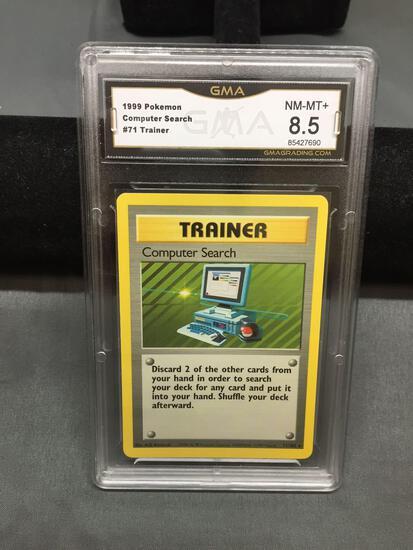 GMA Graded 1999 Pokemon Base Set COMPUTER SEARCH Rare Trading Card - NM-MT 8.5+