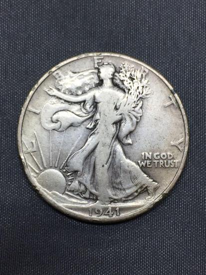 1941 United States Walking Liberty Silver Half Dollar - 90% Silver Coin from COIN STORE HOARD