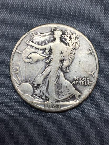 1943-D United States Walking Liberty Silver Half Dollar - 90% Silver Coin from COIN STORE HOARD