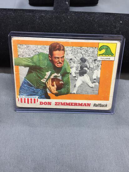 1955 Topps All-American #49 DON ZIMMERMAN Tulane Vintage Football Card from Collection