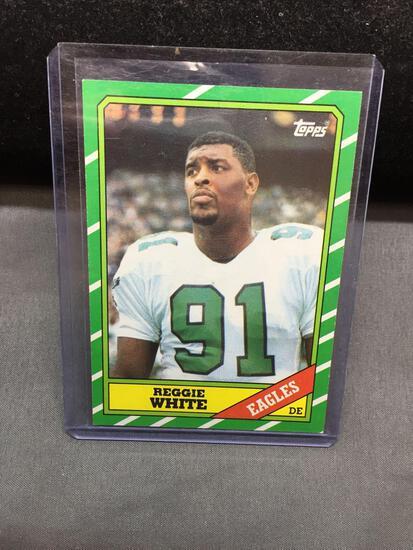 1986 Topps #275 REGGIE WHITE Eagles ROOKIE Football Card