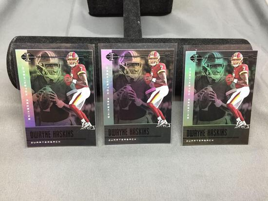 3 Card Lot of 2018 Panini Illusions DWAYNE HASKINS Redskins ROOKIE Football Cards